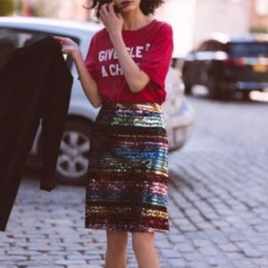 NWT Moulinette soeurs sequin skirt